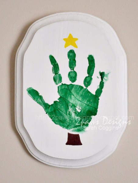 Handprint Christmas Tree Plaque