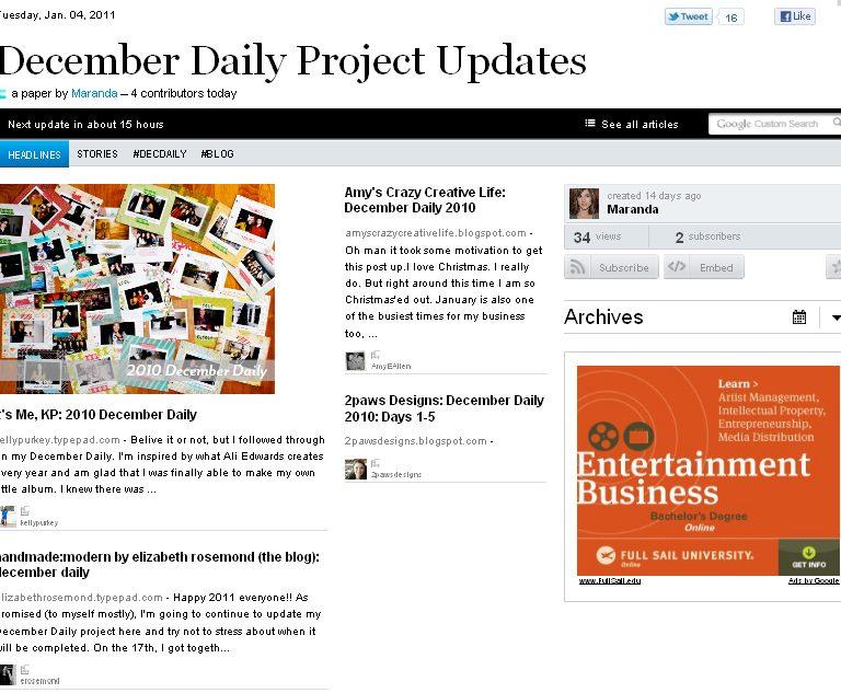 December Daily Updates: PaperLi 4 January 2010