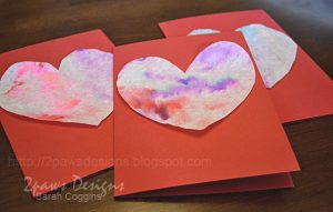 Coffee Filter Painting: Valentines