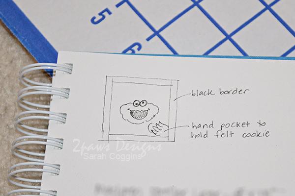 DIY Cookie Monster Pillow: Sketch