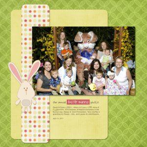 Bunny Photo 2011 digital scrapbooking page