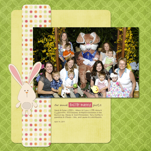 Bunny Photo 2011 digital scrapbooking page