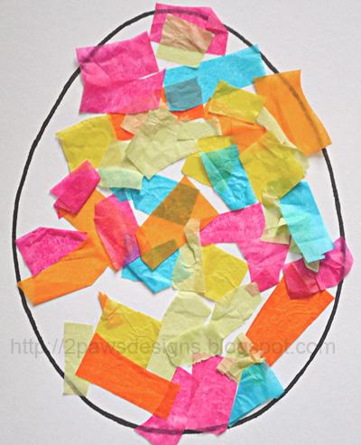 Tissue Paper Eggs: Complete