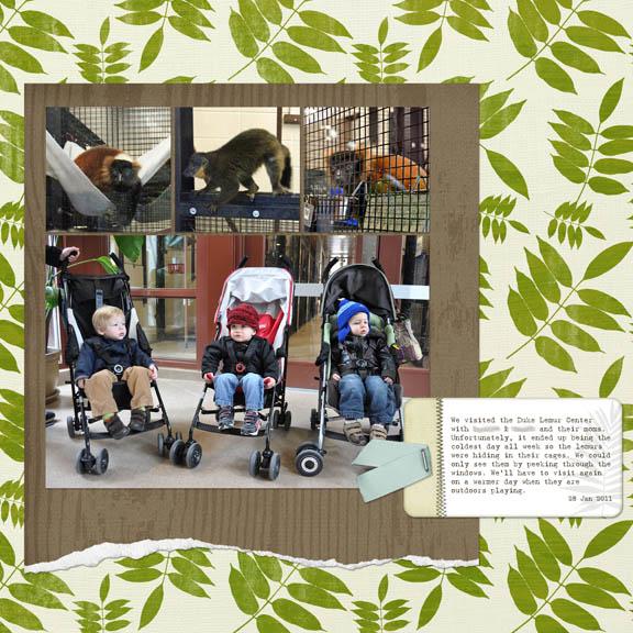 Duke Lemur Center digital scrapbook page