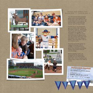 Durham Bulls: May 2011 - digital scrapbook page