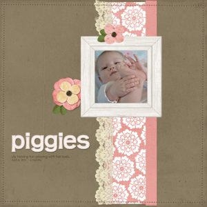 Piggies digital scrapbooking page