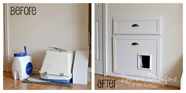 Cat Drawer Under Stair Storage: Before and After