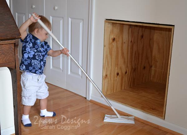 Cat Drawer Under Stair Storage Clean Up