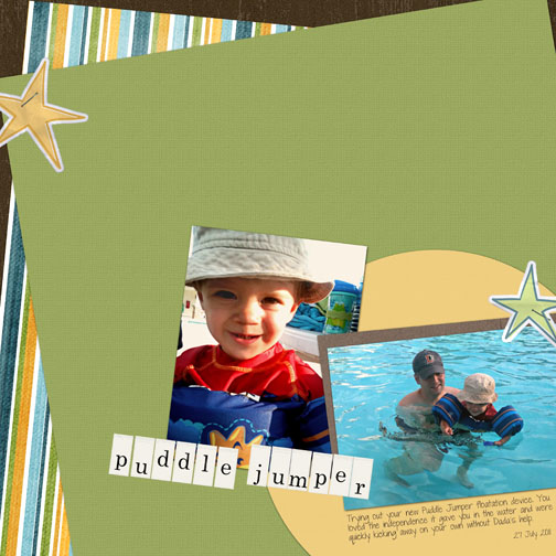 Puddle Jumper digital scrapbook layout