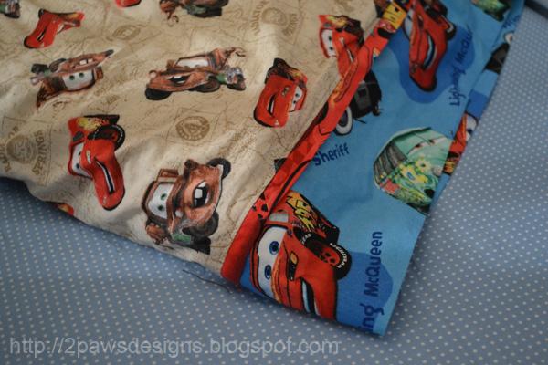 Disney 'Cars' Pillowcase: Detail of Fabrics