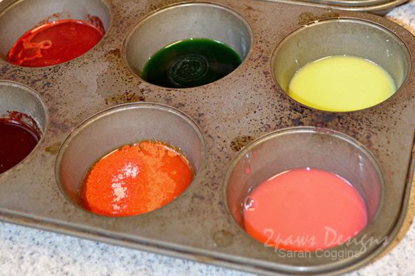 Kool Aid Painting: mix paints