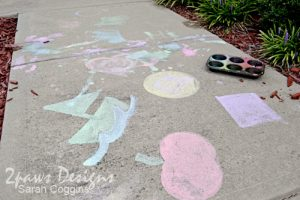 Sidewalk Painting: Completed Artwork