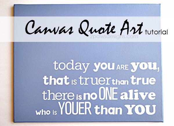 Canvas Quote Art Tutorial