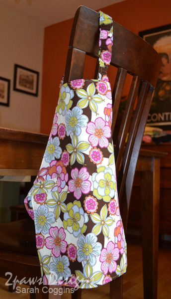 Handmade Toddler Apron Hanging on Chair