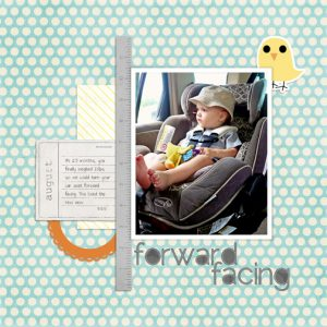 Forward Facing digital scrapbooking page
