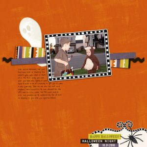Halloween Night 2010 digital scrapbook page