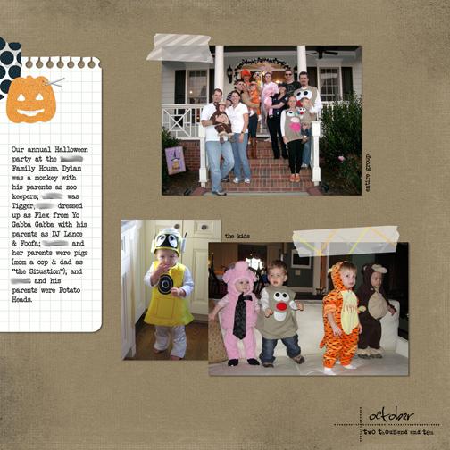Halloween Party 2010 digital scrapbook page