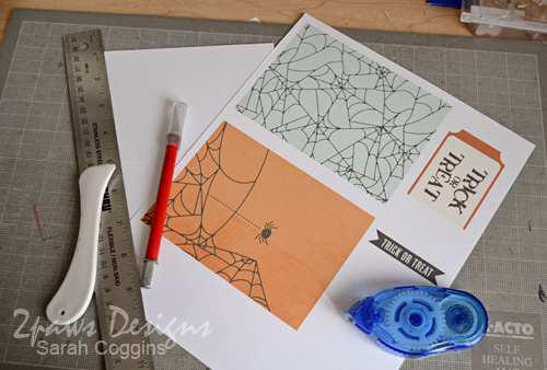 Hybrid Halloween cards: supplies