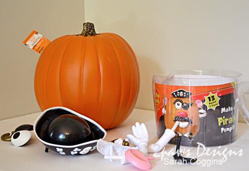 Mr Potato Head Pumpkin: Supplies