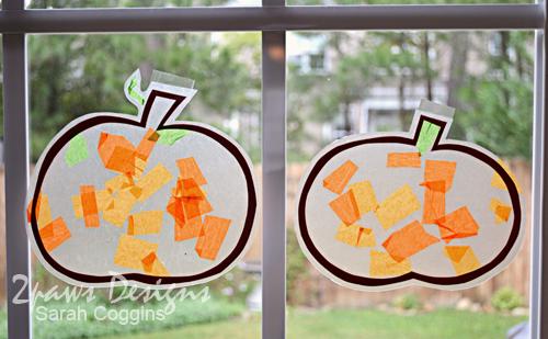 Tissue Paper Pumpkins complete