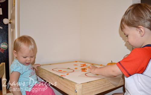 Tissue Paper Pumpkins: in progress