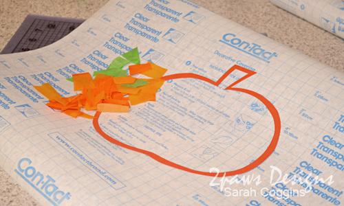 Tissue Paper Pumpkins: supplies