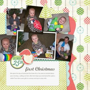 1st Christmas digital scrapbook page