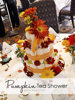 Pumpkin themed Afternoon Tea baby shower