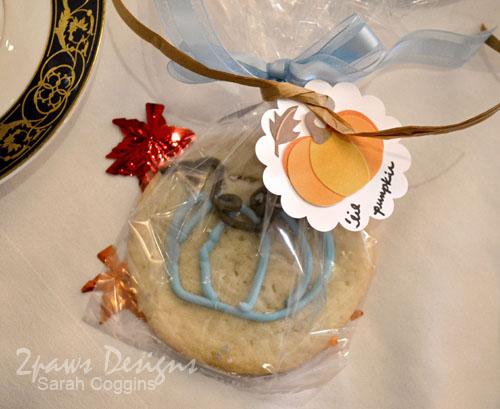 Pumpkin Tea Baby Shower: Cookie Favors