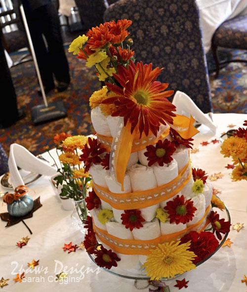 Pumpkin Tea Baby Shower: Diaper Cake