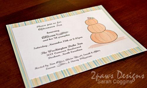 Pumpkin Tea Baby Shower: Invitation