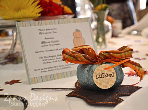Pumpkin Tea Baby Shower: Place Setting