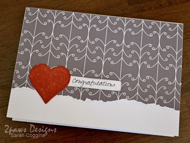 Simple Handmade Wedding Card