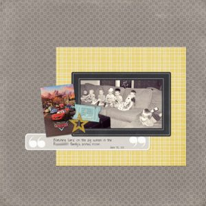 BCC Movie Day digital scrapbook page