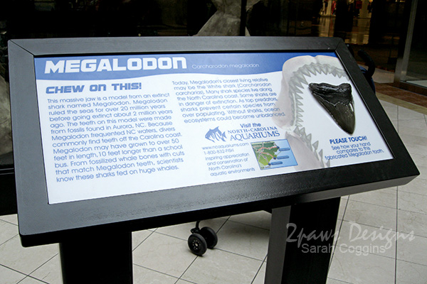 Megalodon Information Plaque