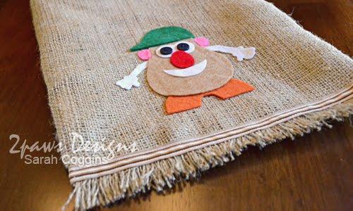 """Mr. Potato Head """"Potato Sack"""" Parts Bag: Felt Potato"""