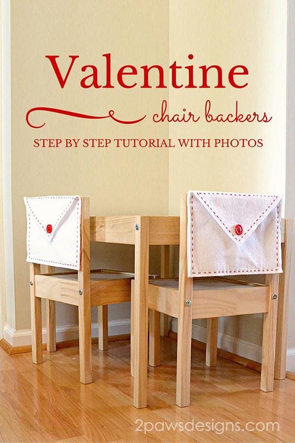 Valentine's Felt Envelope Chair Backers tutorial