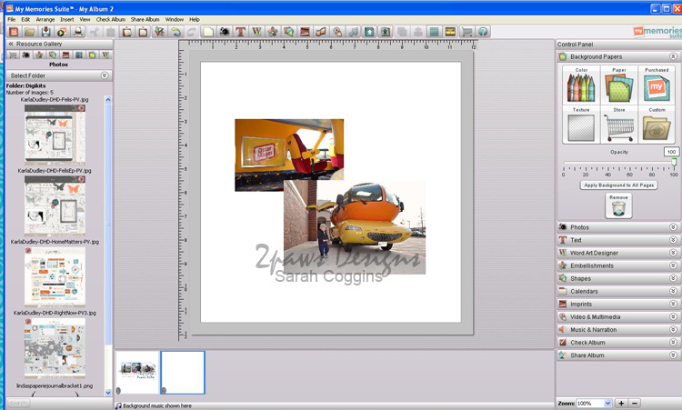 My Memories: Program Screenshot