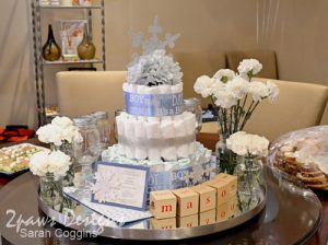 Snowflake Baby Shower: Centerpiece