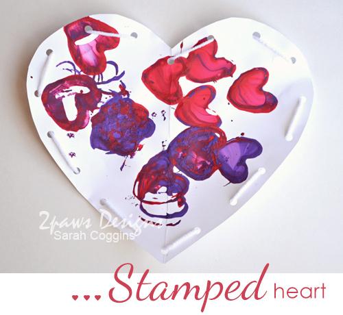 Stamped Heart - Valentine's Day kids' craft