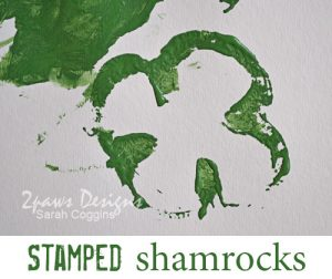 Green Pepper Stamping: Shamrocks