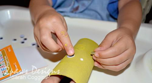 Toilet Tube Chicks: Glue on Eyes