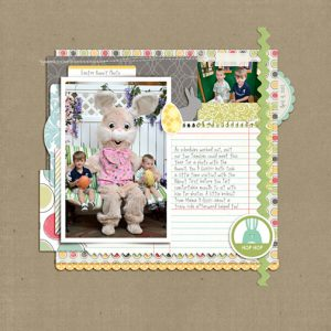 Easter Bunny 2012 digital scrapbooking page