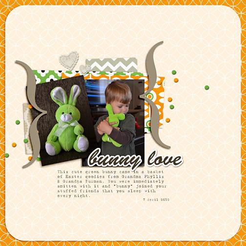 Bunny Love digital scrapbooking page