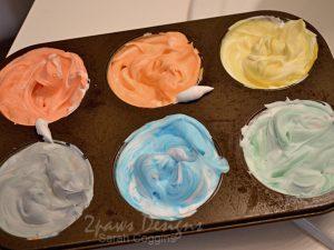 Shaving Cream Paint Tray