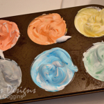 Shaving Cream Painting: Colors