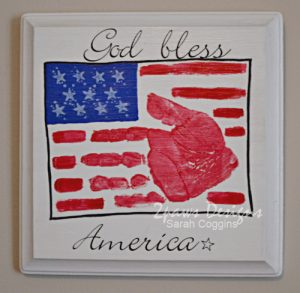 Flag Handprint Plaque