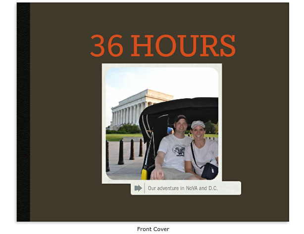 36 Hours photo book: Front Cover