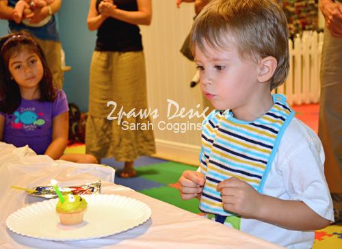 Blast Off Party: Blow out the candle!