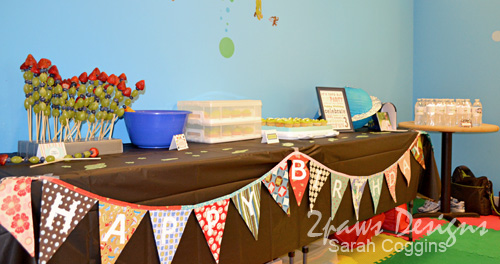 Blast Off Party: Food Table